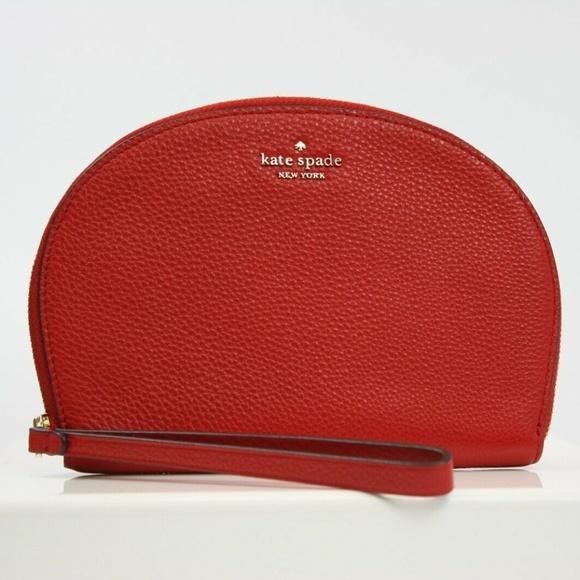 kate spade Handbags - JACKSON HALF MOON WRISTLET CLUTCH BAG LEATHER